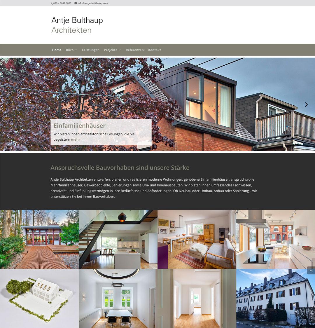Antje Bulthaup Architekten: Website
