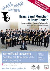 Brass Band München: Konzertplakat Dany Bonvin