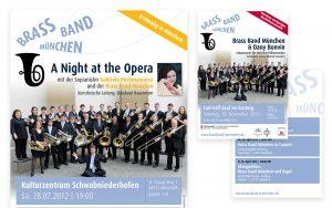 Brass Band München – Konzertplakate und Flyer