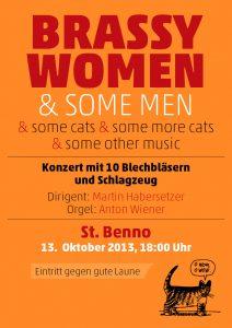 "Brassy Women: Konzertplakat ""Brass Cats"""