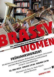"Brassy Women: Konzertplakat ""Frühjahrskonzert"""