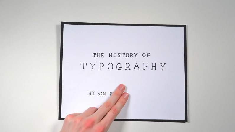 "Film ""The History of Typography"""