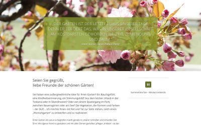 50 Shades of Grün: Website für Gartengestaltung Gumler