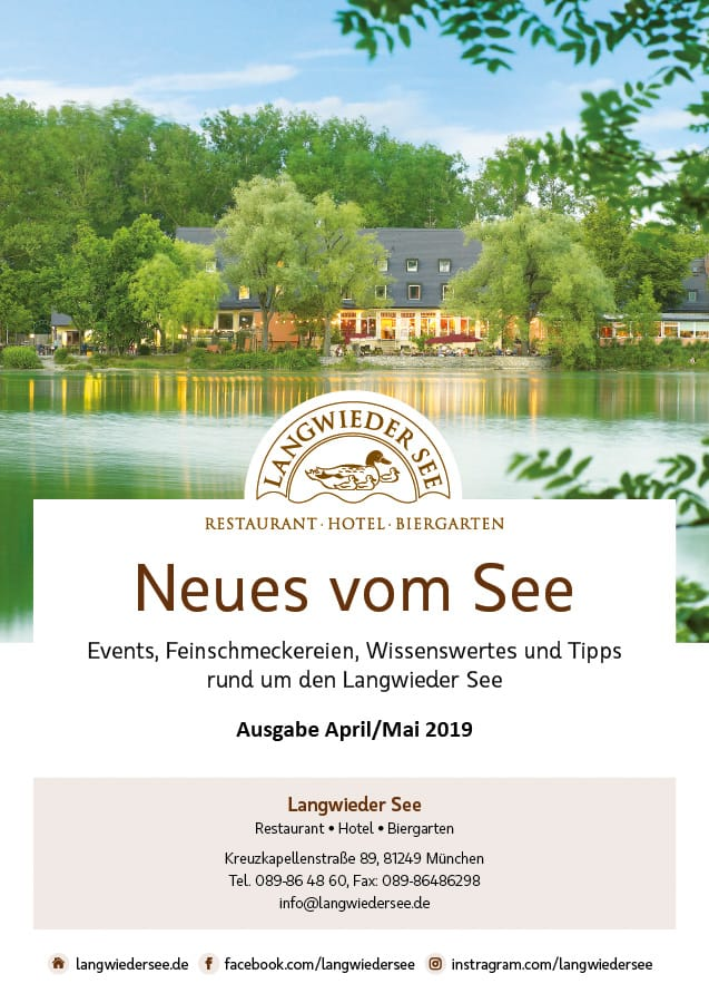 """Hotel Langwieder See: Faltblatt """"Neues vom See"""""""