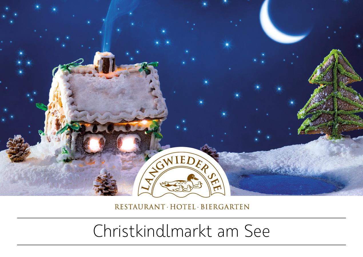 """Hotel Langwieder See: Postkarte """"Christkindlmarkt"""""""