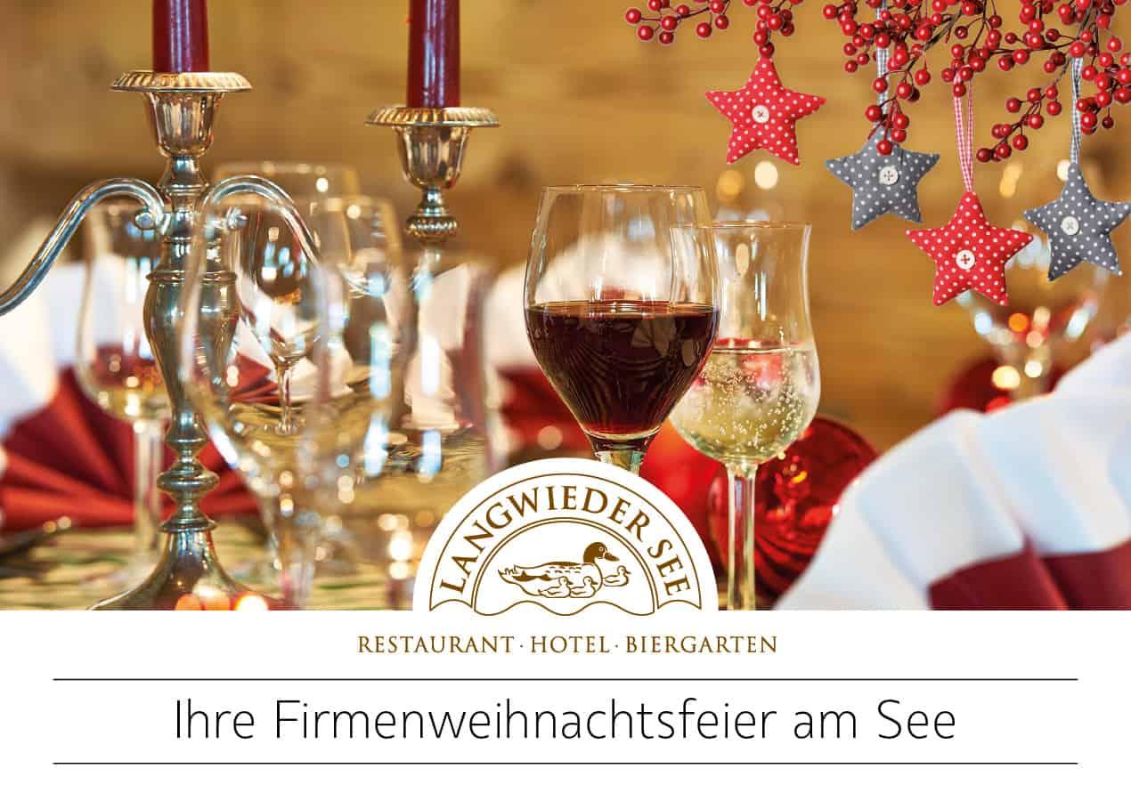 """Hotel Langwieder See: Postkarte """"Weihnachtsfeier"""""""