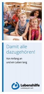 Lebenshilfe Landsberg: Faltblatt