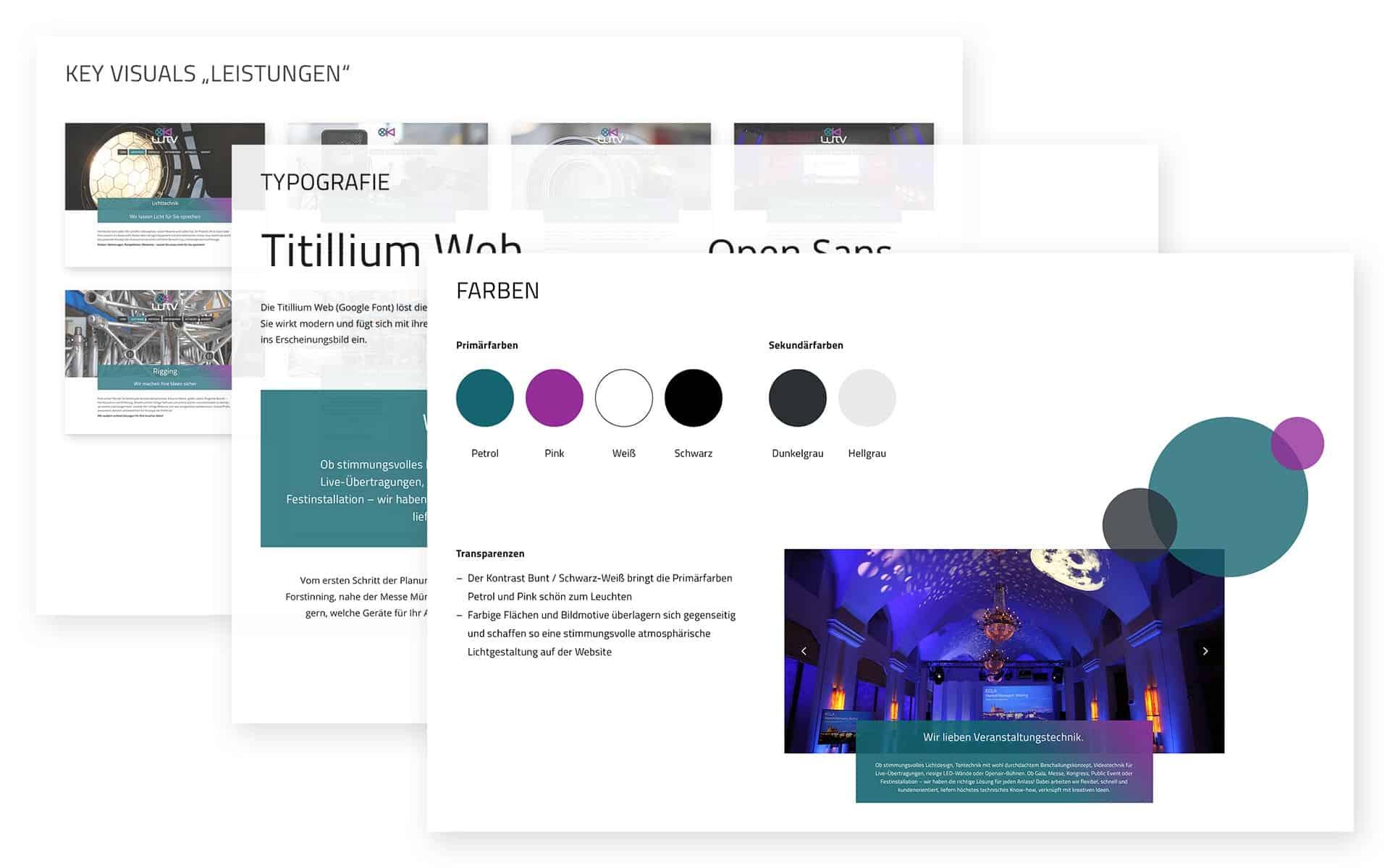 LuTV Veranstaltungstechnik: Brand Guide