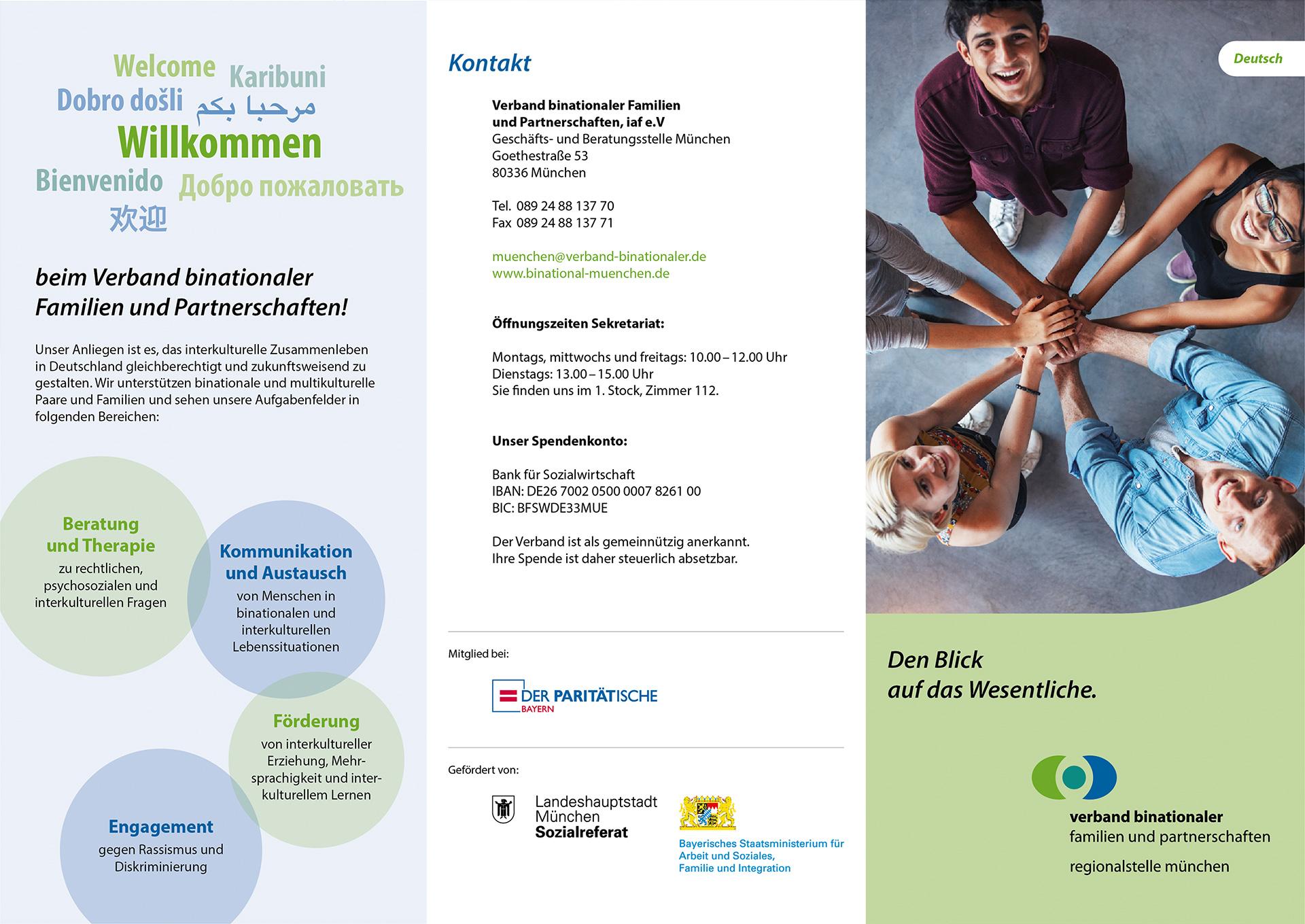 Verband binationaler Familien und Partnerschaften: Faltblatt