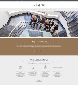 Kanzlei euprax: Website