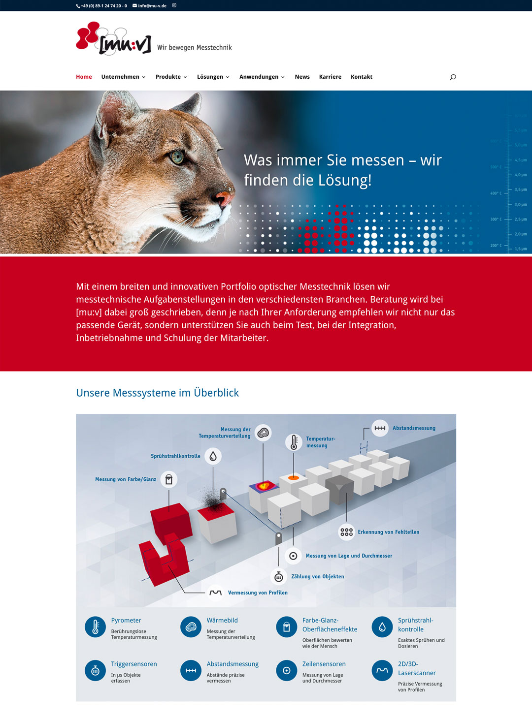 [mu:v] Messtechnik: Corporate Website