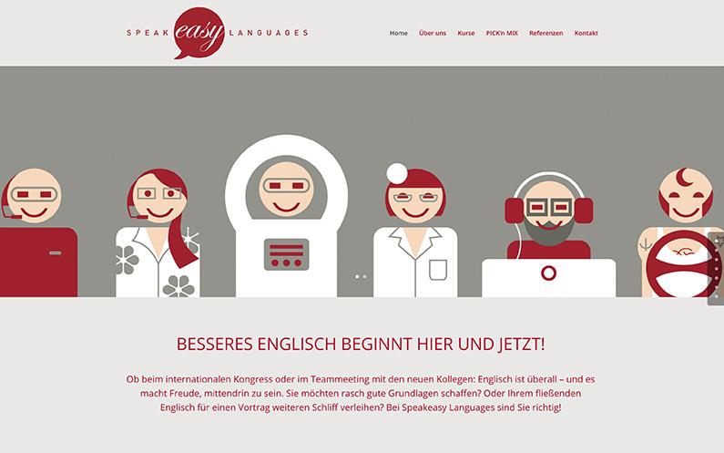 Website für die Münchner Sprachschule Speakeasy Languages