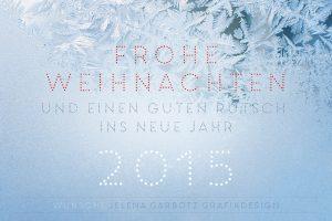 Weihnachtskarte 2014: Eisblumen