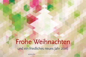 Weihnachtskarte 2015: Isometrie-Bäumchen